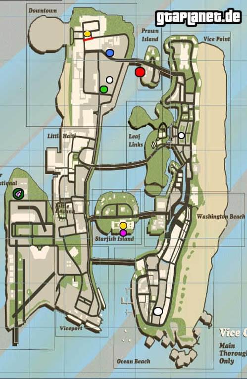 Gta 5 Karte Polizeistation.Gtaplanet De Gta Vice City Flugzeuge