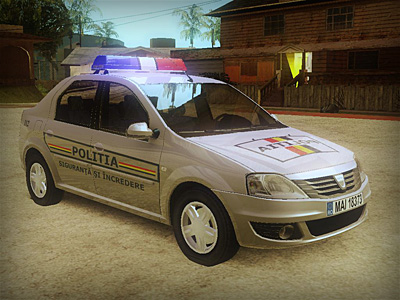 Dacia Logan 2008 Romania Police Car